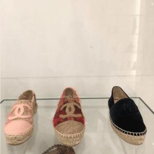 Chanel Tweed and Velvet Espadrilles