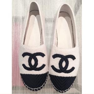 Chanel White/Black Espadrilles