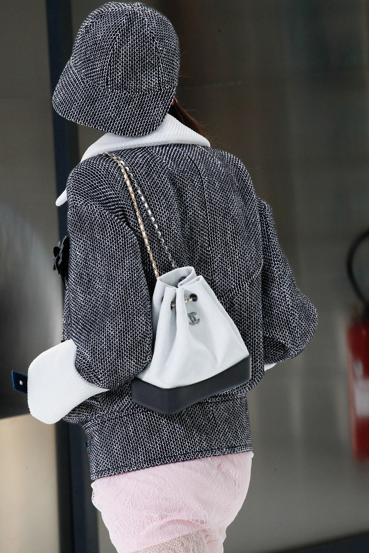 chanel bags 2017 black. chanel white/black small drawstring bag - spring 2017 bags black