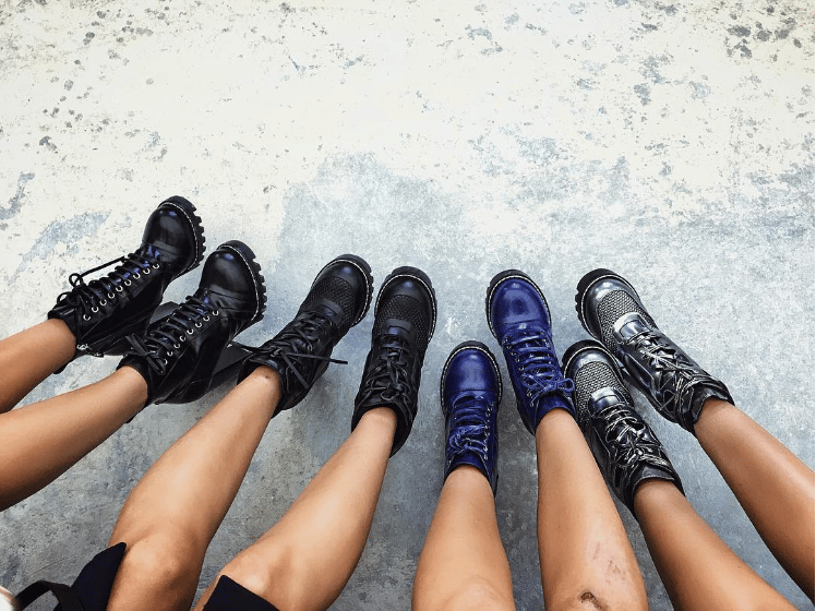 designer combat boots for fall 2016
