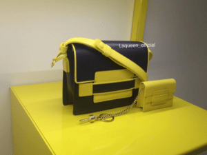Delvaux Black/Yellow Madame Bag and Charm - Spring 201