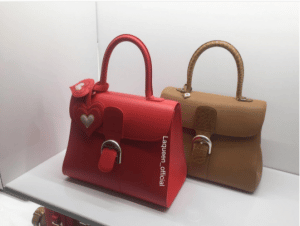 Delvaux Red and Tan Brillant Bags - Spring 2017