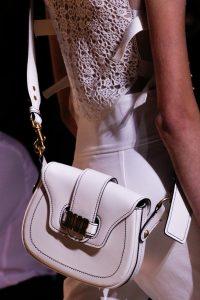 Dior White Saddle Bag - Spring 2017