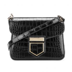 Givenchy Black Crocodile Embossed Nobile Mini Shoulder Bag
