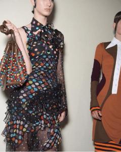 Givenchy Brown Multicolor Embellished Drawstring Bag 2 - Spring 2017