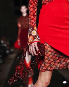 Givenchy Burgundy Crocodile Mini Flap Bag 2 - Spring 2017