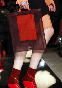 Givenchy Burgundy Mesh and Red Crocodile Tote Bags 2 - Spring 2017