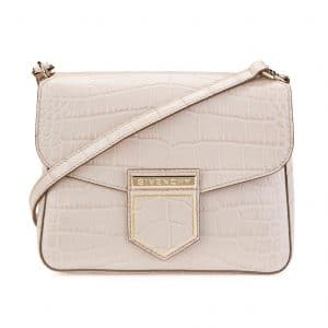 Givenchy Nude Pink Crocodile Embossed Nobile Small Shoulder Bag