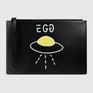 Gucci Black GucciGhost Pouch Bag