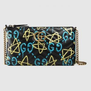 Gucci Black GucciGhost Print Mini Bag