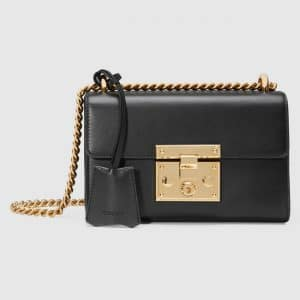 Gucci Black Leather Padlock Small Shoulder Bag