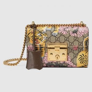 Gucci GG Supreme Bengal Print Padlock Small Shoulder Bag