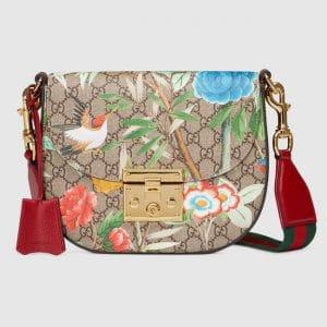 Gucci GG Supreme Tian Padlock Shoulder Bag