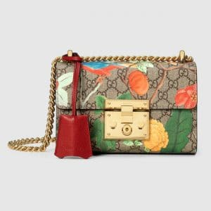 Gucci GG Supreme Tian Padlock Small Shoulder Bag