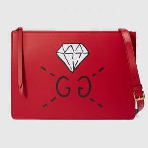 Gucci Hibiscus Red GucciGhost Messenger Bag