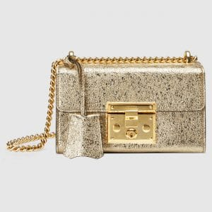 Gucci Platinum Metallic Padlock Small Shoulder Bag