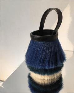 Hermes Blue Multicolor Toupet Bag