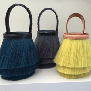Hermes Blue/Gray/Yellow Toupet Bags