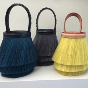 Hermes Blue/Gray/Yellow Toupet Bags