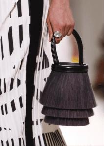 Hermes Gray Fringed Horsehair Toupet Bucket Bag - Spring 2017