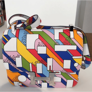 Hermes Multicolor On A Summer Day Print Constance III Bag