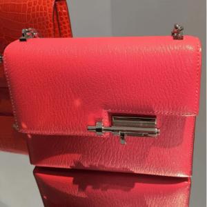 Hermes Red Verrou Shoulder Bag