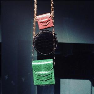 Hermes Red/Green Lizard and Black Crocodile Micro Bags
