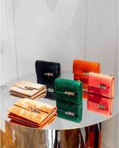 Hermes Suede/Crocodile/Calfskin Verrou Clutch Bags