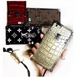 Louis Vuitton Crocodile and Monogram Petite Malle iPhone Cases