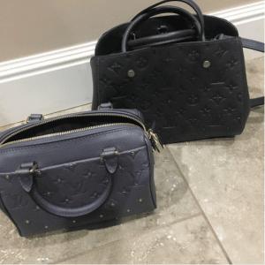 Louis Vuitton Gris Silver Speedy 20 and Platine Montaigne BB Studded Monogram Empreinte Bags