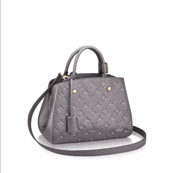 Louis Vuitton Gris Silver Studded Monogram Empreinte Montaigne BB Bag