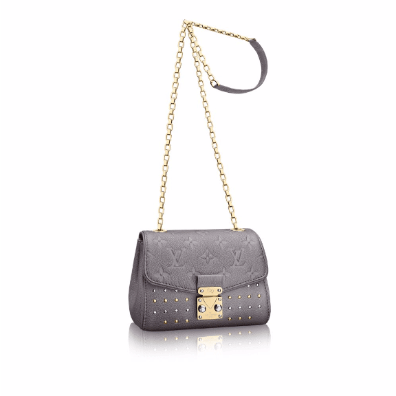 Louis Vuitton Gris Silver Studded Monogram Empreinte Saint Germain BB Bag