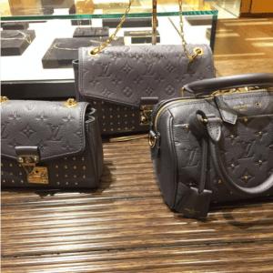 Louis Vuitton Gris Silver Studded Monogram Empreinte Saint Germain and Speedy 20 Bags