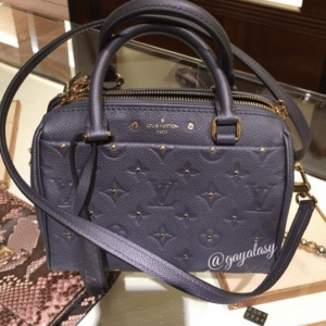 Louis Vuitton Gris Silver Studded Monogram Empreinte Speedy 20 Bag 2