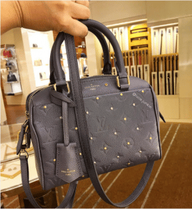 Louis Vuitton Gris Silver Studded Monogram Empreinte Speedy 20 Bag 3