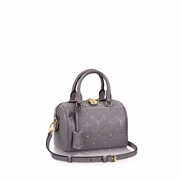 Louis Vuitton Gris Silver Studded Monogram Empreinte Speedy 20 Bag