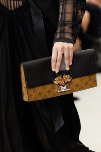 Louis Vuitton Monogram Reverse and Black Leather Clutch Bag - Spring 2017