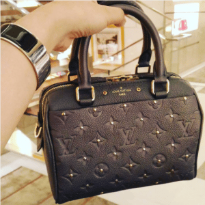 Louis Vuitton Platine Studded Monogram Empreinte Speedy 20 Bag
