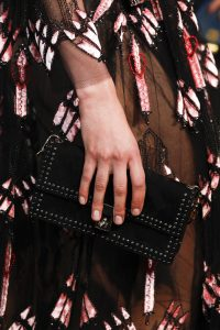 Valentino Black Studded Flap Bag - Spring 2017
