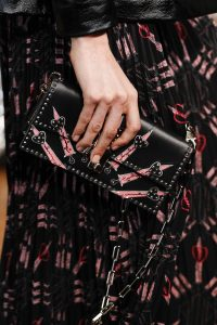 Valentino Black/Pink Studded Flap Bag - Spring 2017