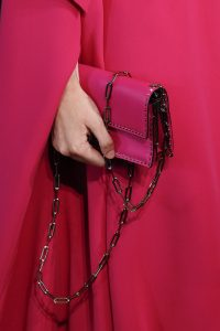 Valentino Fuchsia Pink Studded Flap Bag - Spring 2017