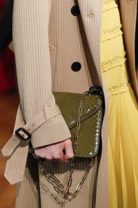Valentino Olive Green Python Flap Bag - Spring 2017