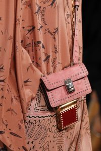 Valentino Pink Mini Studded Flap and Red Mini Lipstick Holder Bags - Spring 2017