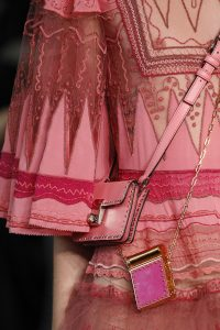 Valentino Pink Studded Mini Lipstick Holder and Flap Bags - Spring 2017