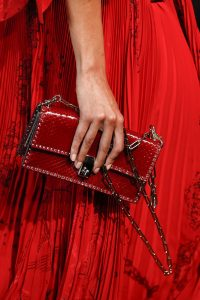 Valentino Red Python Studded Flap Bag - Spring 2017