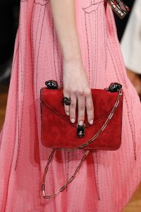 Valentino Red Suede Flap Bag - Spring 2017