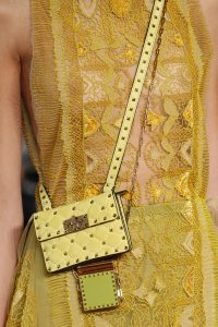 Valentino Yellow Mini Studded Flap and Green Mini Lipstick Holder Bags - Spring 2017