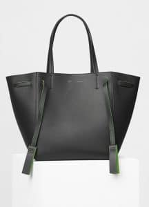 Celine Anthracite Smooth Calfskin Small Cabas Phantom with Tassels Bag
