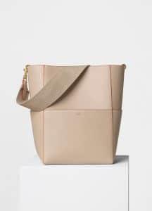 Celine Beige Shiny Smooth Calfskin Sangle Shoulder Bag