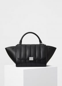 Celine Black Lambskin Quilted Small Trapeze Bag